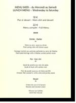 Exemple De Carte De Restaurant Gastronomique